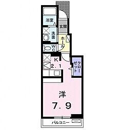 神奈川県小田原市国府津の賃貸アパートの間取り