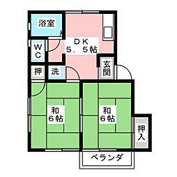 メゾニティ21B棟[2階]の間取り