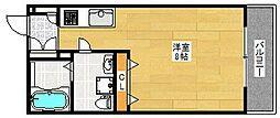 フェリオ南津守[4階]の間取り