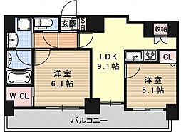 ALTA京都堀川WINDOOR[802号室号室]の間取り