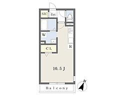 JR京浜東北・根岸線 大宮駅 徒歩10分の賃貸アパート 1階ワンルームの間取り