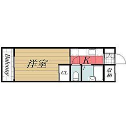 京成千原線 ちはら台駅 徒歩31分の賃貸アパート 2階1Kの間取り