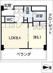 ビジャ松原[3階]の間取り