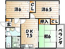サンプレイス吉志 C[203号室]の間取り
