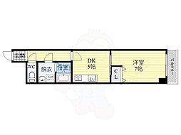 ファミリーコーポ今福 9階1DKの間取り