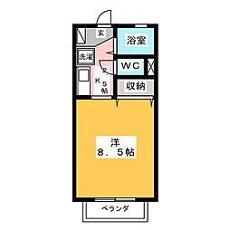 小沢ハイツ[1階]の間取り