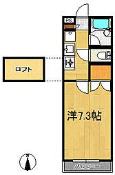 メゾンド歩坂[2階]の間取り