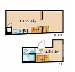 JR総武線 信濃町駅 徒歩5分の賃貸マンション 1階1LDKの間取り