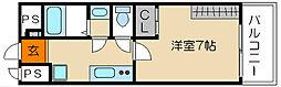 G・F二条城[306号室]の間取り