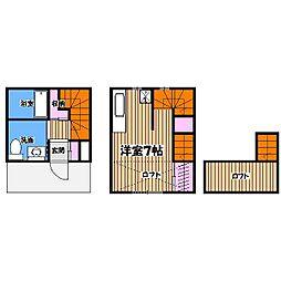 テネメント武蔵野[1階]の間取り