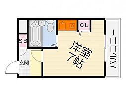 大阪府高石市取石2丁目の賃貸マンションの間取り