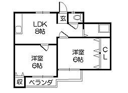 メゾン宝[4階]の間取り