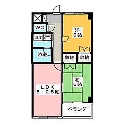 スーデンハイツ[4階]の間取り