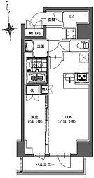 S-RESIDENCE東神田 4階1LDKの間取り