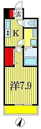 千葉県船橋市薬円台5丁目の賃貸アパートの間取り