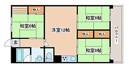 新吉田第三住宅[5100号室]の間取り