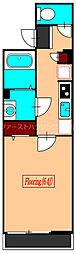 京王井の頭線 三鷹台駅 徒歩18分の賃貸アパート 1階1Kの間取り