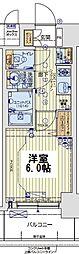 レオンコンフォート京橋EAST 13階1Kの間取り