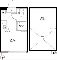 プラチナテラス池袋[205-2号室]の間取り