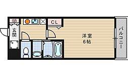 クレド桜川[8階]の間取り