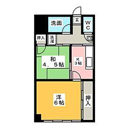 吉川コーポラス[4階]の間取り