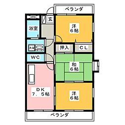 WAVE21[2階]の間取り