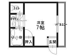高千穂第2マンション[0505号室]の間取り