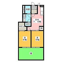 ファミールヤマモト A[1階]の間取り