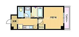 Osaka Metro谷町線 都島駅 徒歩8分の賃貸マンション 5階1Kの間取り