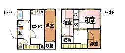 クレスト篠籠田I[1階]の間取り