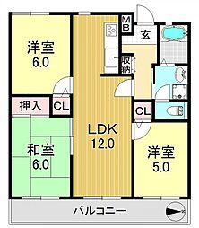 清川六番館[4階]の間取り