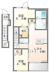 アジャートK[2階]の間取り
