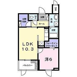 玉津町田中マンション[1階]の間取り
