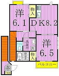 オーブリーハウス[2階]の間取り