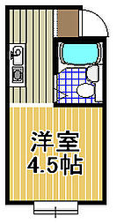 シティプラザ梅香[4階]の間取り