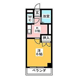 エクセレンスタマダ[4階]の間取り