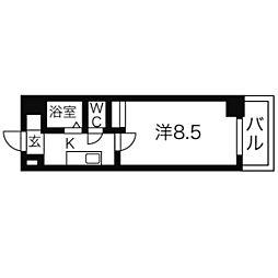 ウェステリア西大須[3階]の間取り