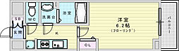 JR東西線 加島駅 徒歩7分の賃貸マンション 9階1Kの間取り
