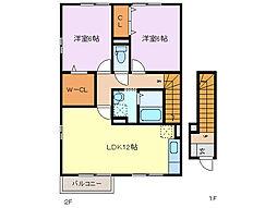 三重県四日市市松本2丁目の賃貸アパートの間取り