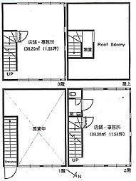 KASHIWATYOU BUILDING[3階]の間取り
