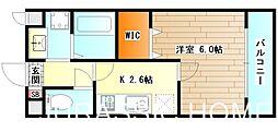 大阪府堺市堺区中瓦町1丁の賃貸マンションの間取り