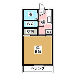 MTコーポII[1階]の間取り