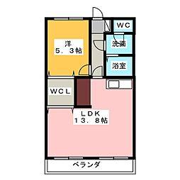 駈上住宅C棟645号室[6階]の間取り