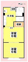 中野セントラルマンション[110号室]の間取り