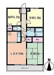 グリーンヒルサイトウ弐番館[4階]の間取り