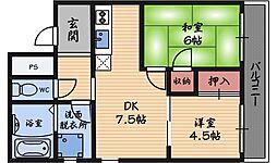 シャトリエコマエ[2階]の間取り