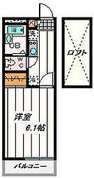 埼玉県さいたま市浦和区本太4丁目の賃貸アパートの間取り