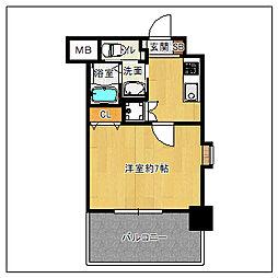 JR鹿児島本線 吉塚駅 徒歩10分の賃貸マンション 5階1Kの間取り