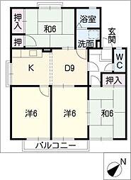 サニーコート弥生[2階]の間取り