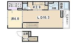 クリアネス コート[4階]の間取り